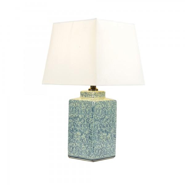 "Keramikleuchte ""Qufu"", multicolor, Schirm weiß, H 50 cm"