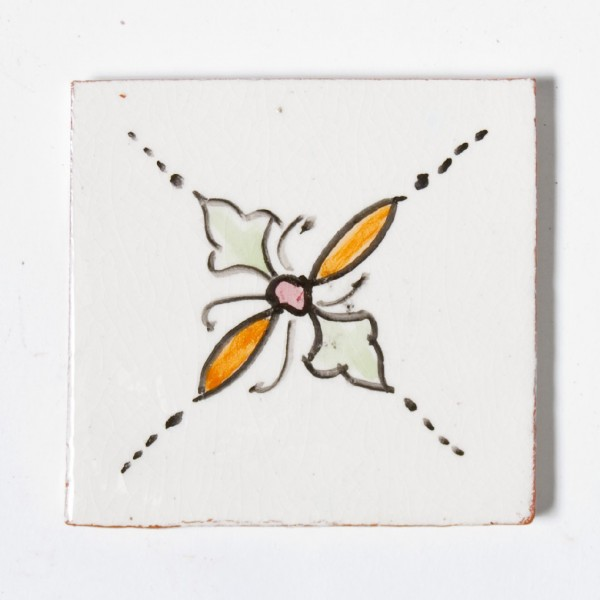 "Fliese ""trèfle vert"", beige, L 10 cm, B 10 cm, H 1 cm"