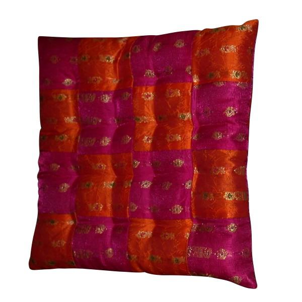 Kissen quadratisch, rosa/orange, L 40 cm , B 40 cm