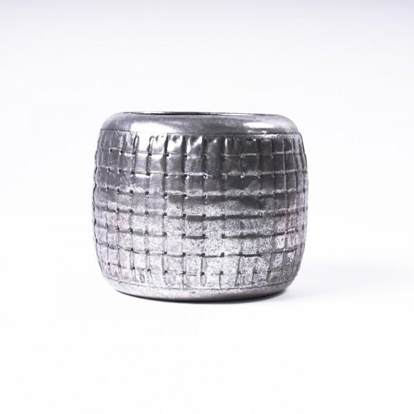 """Windlicht """"Auburn L"""" aus Metall, Ø 14 cm, H 11 cm"""
