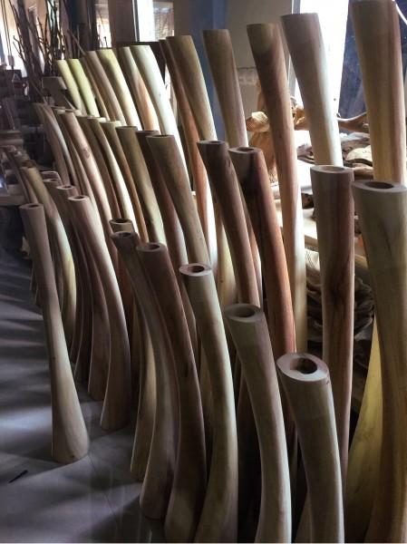 Teelichthalter, natur, Ø 17 cm, H 150 cm