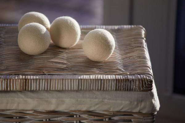 Trocknerball 4er Set , weiß, T 7 cm, B 7 cm