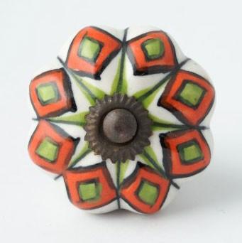 Keramik Möbelknopf, handglasiert, Ø 4,5 cm