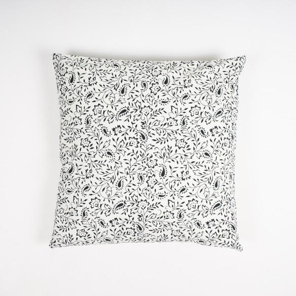 """Kissenhülle """"Strauch"""", schwarz/weiß, L 60 cm, B 60 cm"""