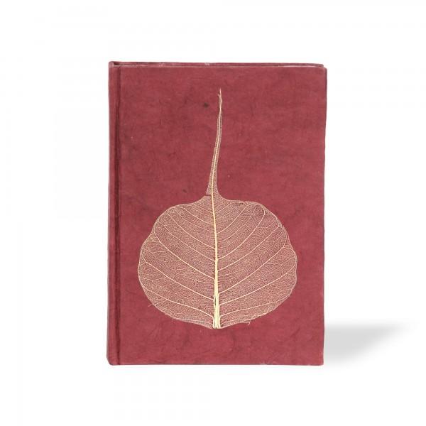 Notizbuch 'Blatt', rot, T 11,5 cm, B 8 cm, H 1 cm