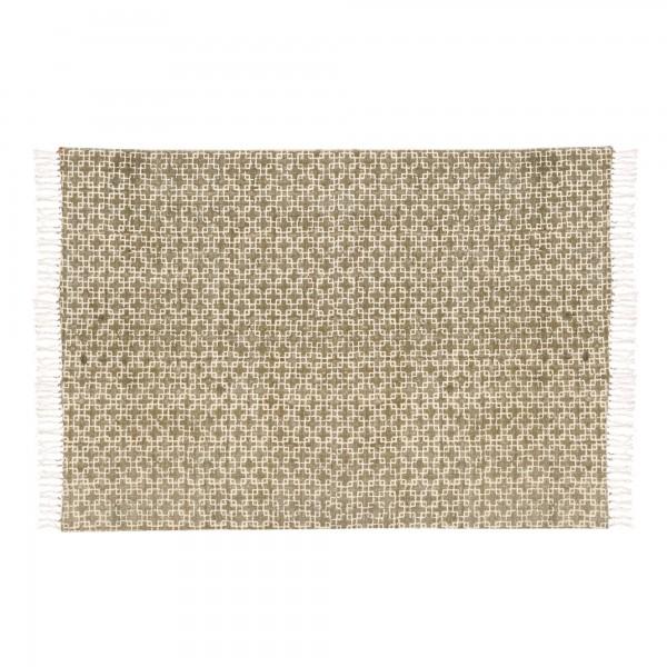 Teppich 'Paasa', weiß, braun, T 140 cm, B 200 cm