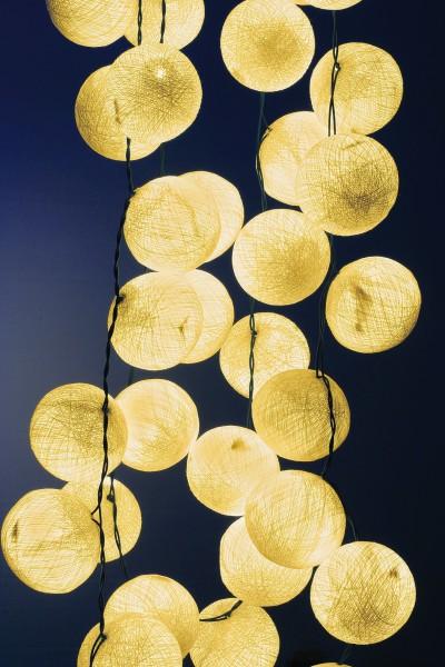 Lichterkette 35 Kugeln, natur, LED, L 470 cm