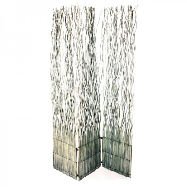 Raumteiler aus Weide, dreiteilig, B 120 cm, H 180 cm