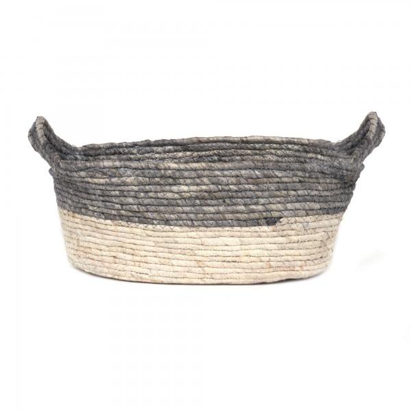 Korb 'Ordina' L, natur, T 35 cm, B 24 cm, H 14 cm
