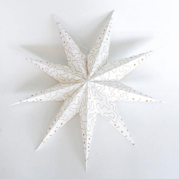 Papierstern, weiß, Ø 60 cm