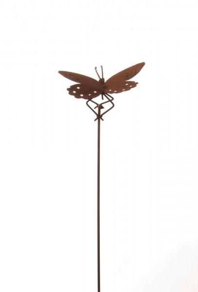 Gartenstecker 'Butterfly', rostbraun, H 90 cm