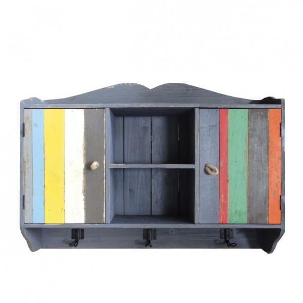 "Hängeschrank ""Nazli"", grau/multicolor, L 15 cm, B 67 cm, H 49 cm"