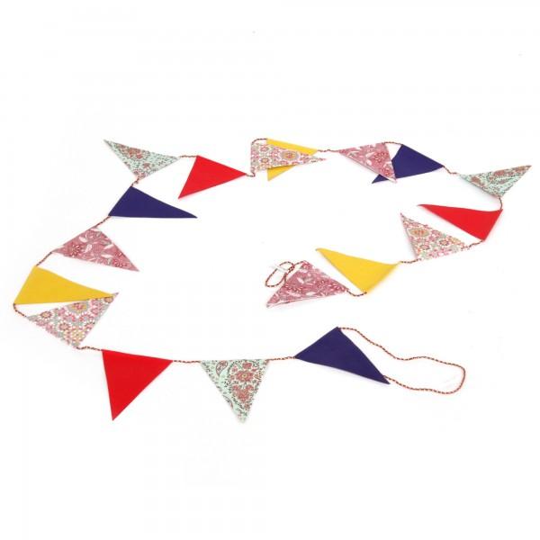 Girlande Wimpel, multicolor, T 300 cm, B 11 cm, H 14 cm