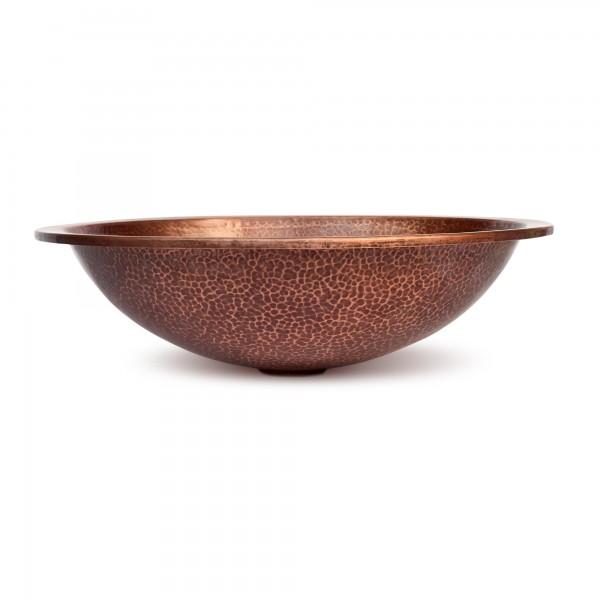 Kupferwaschbecken, kupfer, T 37 cm, B 45 cm, H 12 cm