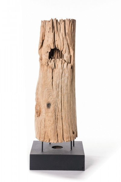 alter hohler Baumstamm, natur, T 40 cm, B 40 cm, H 80 - 120 cm