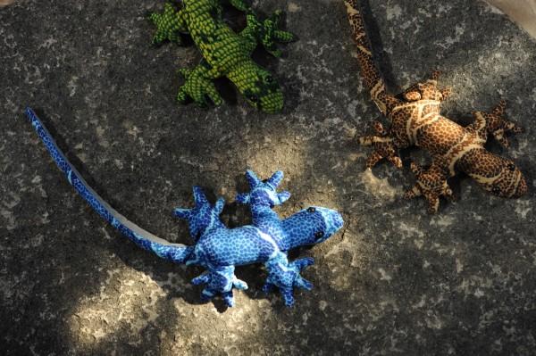Sandtier 'Gecko' M, multicolor, T 20 cm