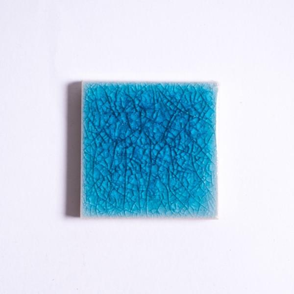 Fliese 'Craquele', kristallblau, L 5 cm, B 5 cm