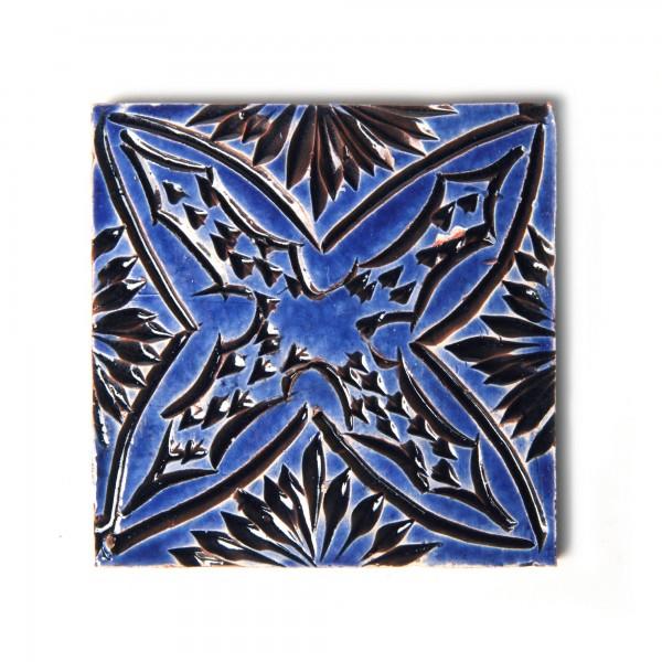 "Fliese ""etoile royale"", blau, L 10 cm, B 10 cm, H 1 cm"