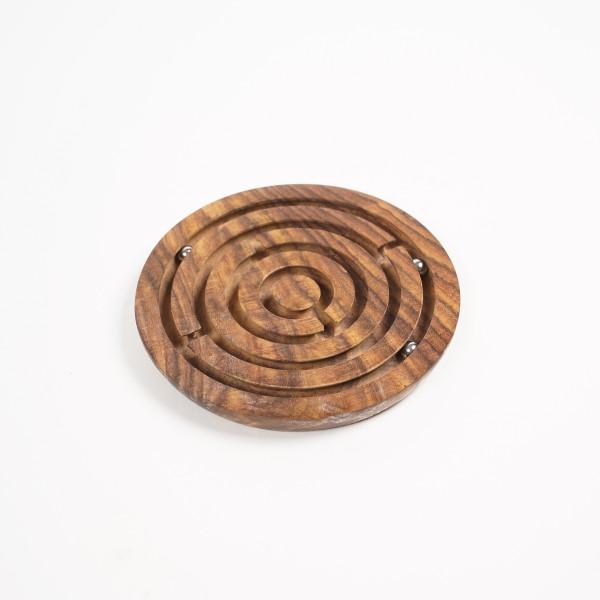 Gedulds-Spiel aus Palisanderholz, braun, Ø 13 cm, H 1 cm