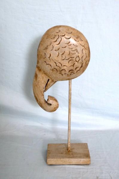 Skulptur Elefant abstrakt auf Ständer, T 18 cm, B 9,5 cm, H 39,5 cm
