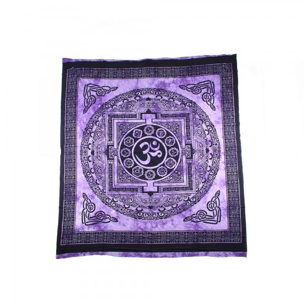 """Tagesdecke """"Om"""", aus 100% Baumwolle, lila/schwarz, L 250 cm, B 220 cm"""