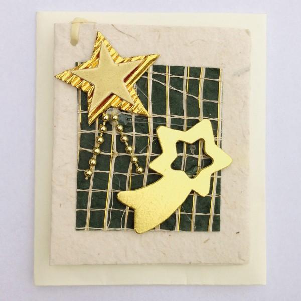 Geschenkkarte, weiß/grün, H 7,5 cm, B 6 cm