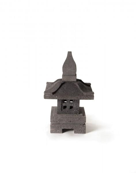 Tempelleuchte, grau, T 30 cm, B 30 cm, H 55 cm