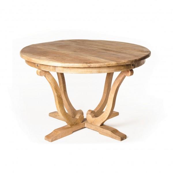 """Tisch """"Shutter"""", aus massivem Mangoholz, Ø 120 cm, H 75 cm"""
