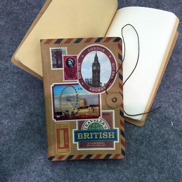 """Notizbuch """"British Stamps"""", 128 Seiten, B 12 cm, H 18 cm"""