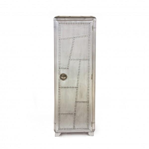 Spind 'Buckson', silber, L 48 cm, B 58 cm, H 176 cm