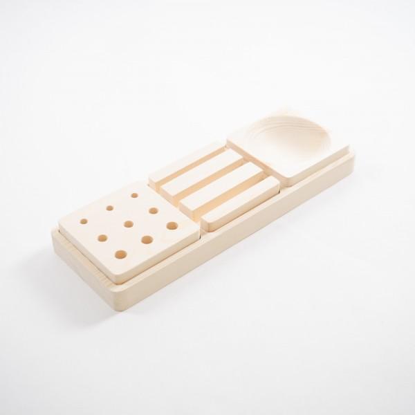 """Schreibtischset """"Macao"""", 4-teilig, natur, L 11 cm, B 32 cm, H 4 cm"""