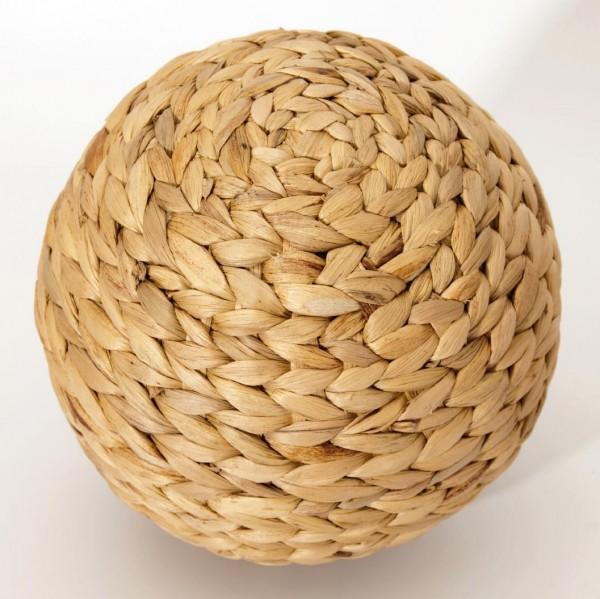 geflochtener Ball, natur, Ø 12 cm