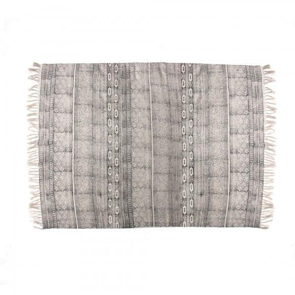 Teppich 'Waben', grau, T 140 cm, B 200 cm