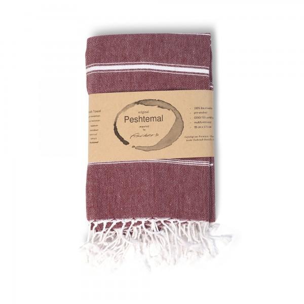 Hamamtuch 'Sulten', burgund, T 175 cm, B 95 cm