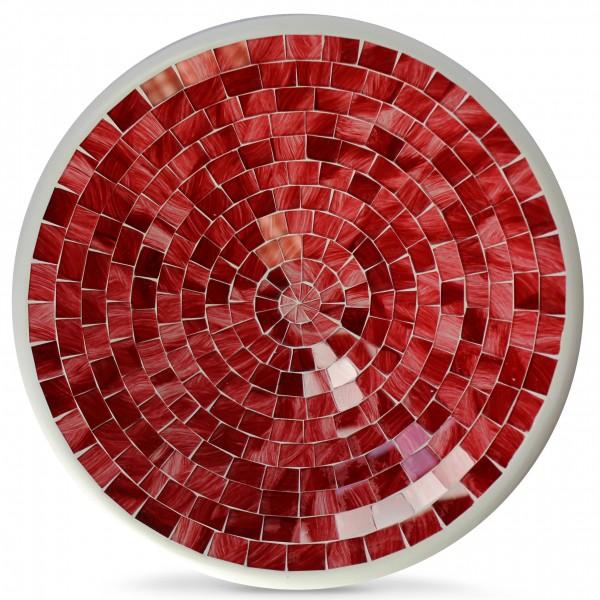 Glasmosaikschüssel, rot, H 3,5 cm, Ø 19,5 cm