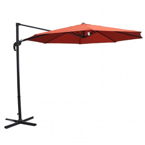 """Sonnenschirm """"Rapallo"""", schwenk- und ausfahrbar, rot, Ø 2,90 m"""