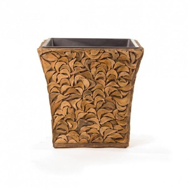 """Übertopf """"Kokos"""" aus Kokosholz mit Kunststoffeinsatz, L 44 cm, B 44 cm, H 44 cm"""