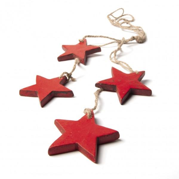 Sternen-Bundle, rot, L 60 cm