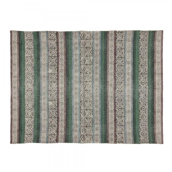 Teppich 'Hingoli', schwarz, weiß, grün, rot, T 140 cm, B 200 cm