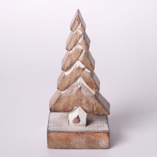 """Dekobaum """"Douglasie"""" S aus Holz, braun, B 8 cm, H 17 cm"""
