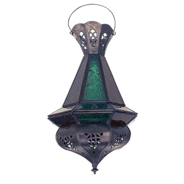 Laterne 'Tria Khalid', antik-braun, H 37 cm, Ø 15 cm