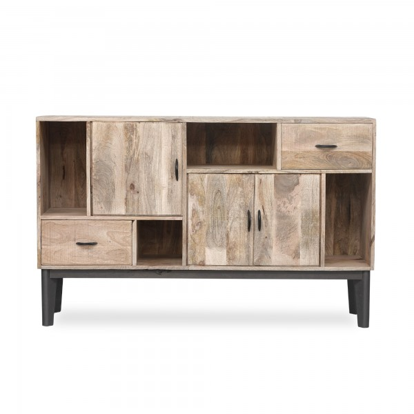 Sideboard 'Berkhood', natur, grau, T 35 cm, B 145 cm, H 91 cm