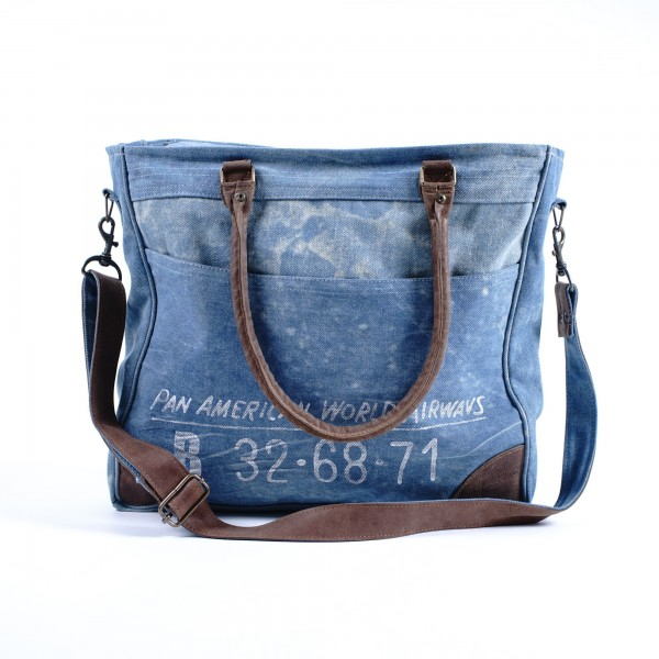 """Umhängetasche """"Pan American"""", blau, B 39 cm, H 34 cm"""