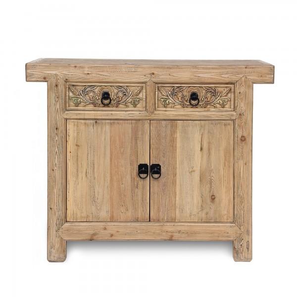 Sideboard 'Herolind', 2 Schubladen, 2 Türen, natur, T 45 cm, B 118 cm, H 95 cm
