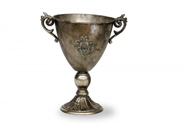 Pokal 'Voudrais', silbergrau, T 21 cm, B 31 cm, H 32,5 cm