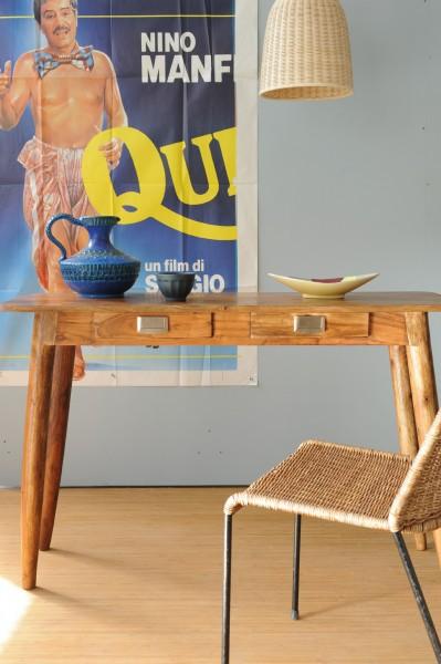 Tisch 'Motley' mit 2 Schubladen, braun, B 40 cm, L 115 cm, H 76 cm