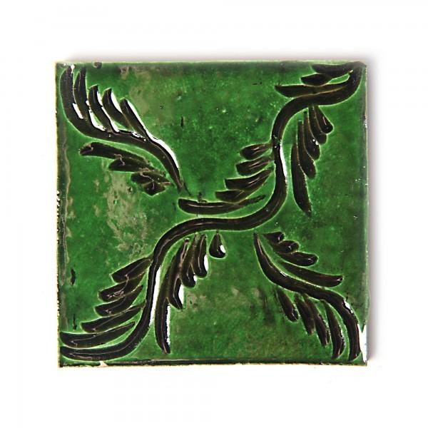 "Fliese ""snake"", grün, L 10 cm, B 10 cm, H 1 cm"