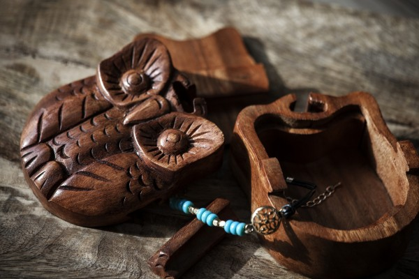 Secret Box 'Owl', natur, T 10 cm, B 8 cm, H 5 cm
