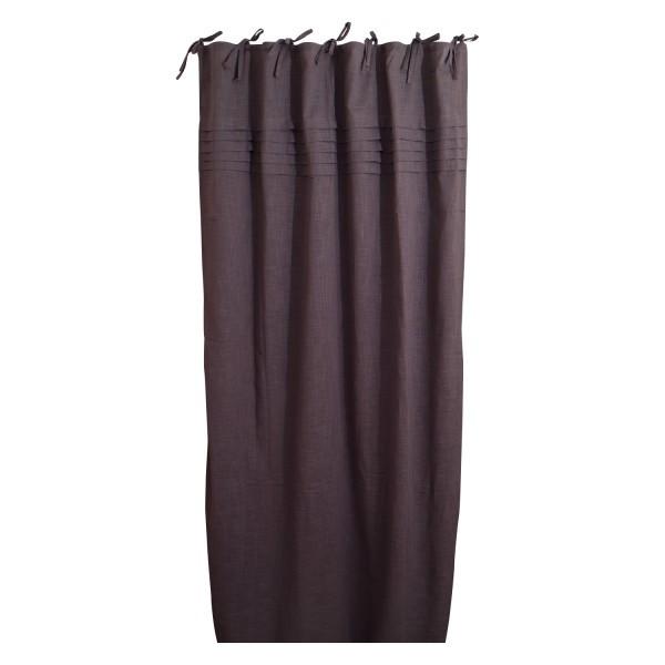 Baumwoll-Vorhang, anthrazith, B 105 cm, H 245 cm