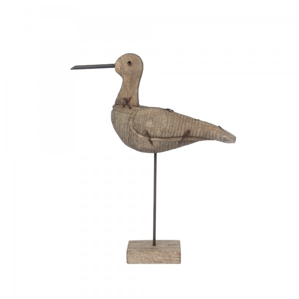 Vogel auf Ständer, natur, T 9 cm, B 27 cm, H 35 cm